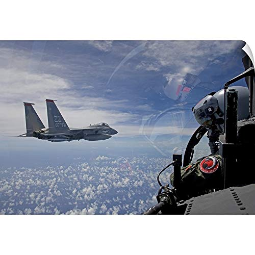 CANVAS ON DEMAND an F-15 Eagle Pilot Flies in Formation with his Wingman Wall Peel Art Print, 24