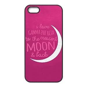 Cute TPU Case Gamma Phi Beta Pink iPhone 5 5s Cell Phone Case Black