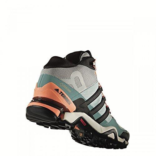 adidas Terrex Fast R Mid GTX W, Stivali da Escursionismo Donna, Verde (Vertac/Negbas/Acevap), 40 EU