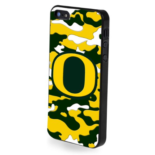 Forever Collectibles NCAA Team Camouflage Logo iPhone 5/5S Hard Case - Retail Packaging - Oregon Ducks