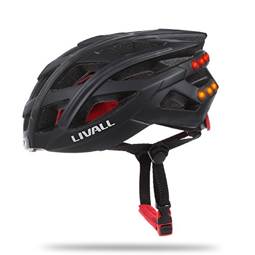 AuMoMate LIVALL BH60 Bike Helmet Smart Bicycle Cycling Helmet with Bluetooth Bling Taillight Hands-free Phone Call SOS Alert - Black