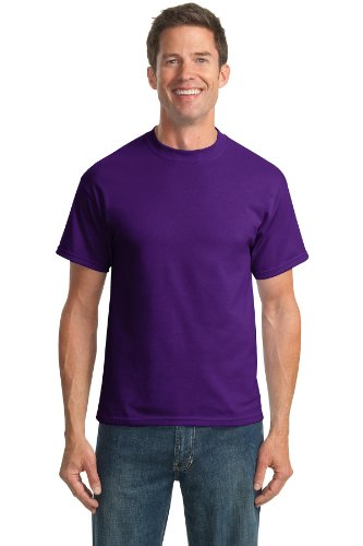 Port & Company Men's Tall 50/50 Cotton/Poly T Shirts XLT Purple from PORT AND COMPANY