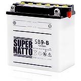 SUPER NATTO / SB7-A (GSユアサ YB7-A互換) 12V バイク用バッテリー 開放型(B200 Cosa CL X DN125 Elyseo Elystar 125 150)