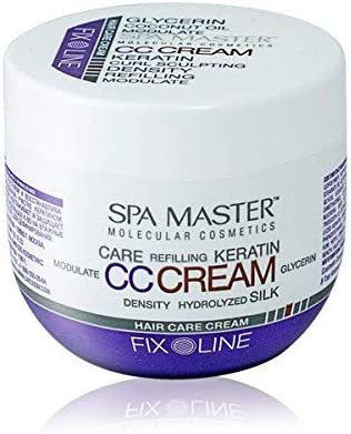 Spa Master - CC Crema de fijación media con keratina y aceite de coco