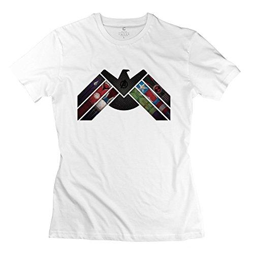 Price comparison product image Agents SHIELD LOGO Women Cotton Tee Shirts XX-Large