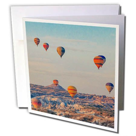 3dRose Danita Delimont - Travel - Turkey, Anatolia, Cappadocia, Goreme. Group of Hot air balloons. - 6 Greeting Cards with envelopes (gc_276993_1) by 3dRose (Image #3)