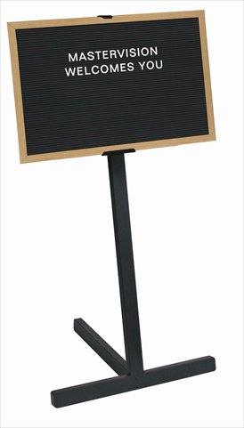 Bi-silque Beechwood Standing Letter Board-Standing Letter Board,2'x3' Board,63'' H,Beechwood Frame/BK by BVC 1.6