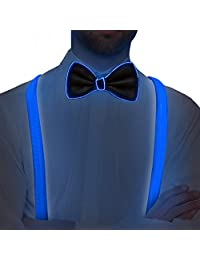 Light Up LED Suspenders and Bow Tie Kit