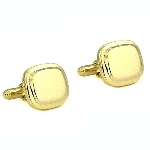 18KT Gold Vermeil over Sterling Silver Square Cushion Cufflinks