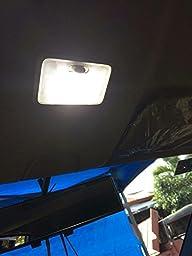 Efoxcity 12V 1156 10 Pcs Bright 1156 1141 1003 50-SMD White LED Bulbs For Car Rear Turn Signal lights Interior RV Camper