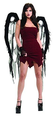 Rubie's Black Fallen Angel Sexy Tattered Gauze Wings -
