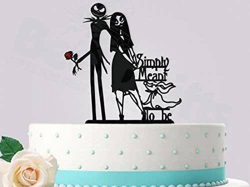 jack and sally wedding cake topper and sally simply meant to be 16559