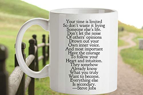 com steve jobs quote coffee mug grad gift time is limited