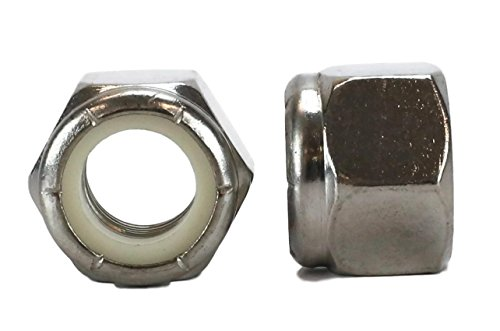 Chenango Supply 18-8 USS 1/2-13 Stainless Nylon Insert Lock Nuts Qty 50 pieces (Nylock) (1/2-13 Nylock)