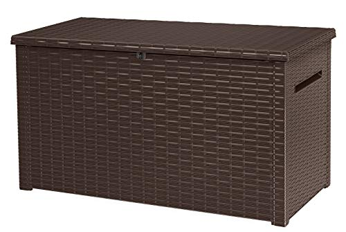 - Keter 240304 Java XXL 230 Gallon Outdoor Storage Deck Box, Espresso Brown