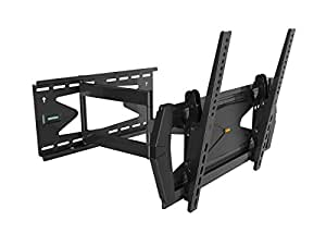 """Black Full-Motion Tilt/Swivel Wall Mount Bracket with Anti-Theft Feature for Sharp Aquos Quattron LC-46LE830U 46"""" inch LED HDTV TV/Television - Articulating/Tilting/Swiveling"""