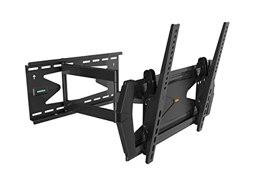 Black Full-Motion Tilt/Swivel Wall Mount Bracket with Anti-Theft Feature for Toshiba 50L5200U 50