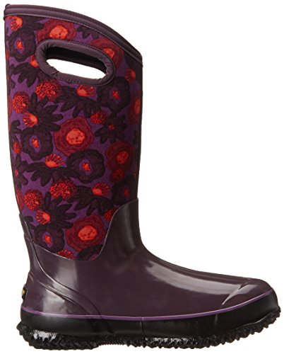 Bogs Womens Classic Watercolor Tall Rubber Boots Plum Multi