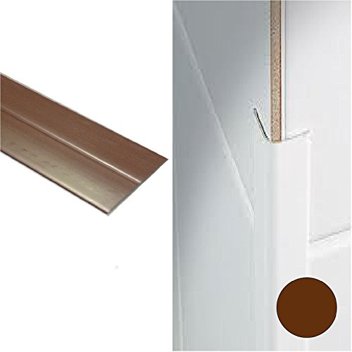 Brown UPVC Plastic Flexible Flexi Angle Trim 25mm x 25mm x 2.5 metres in Length by - Plastic Trim Angle