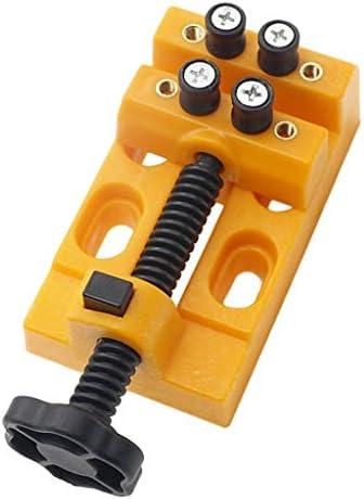 Hellery バイス 万力 ベンチバイス ミニバイス テーブルフラットバイス オープン径 53mm コンパクト 全2カラー - 黄