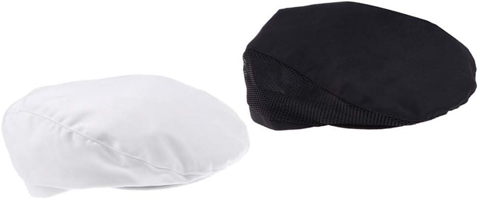 KESOTO Casquette de Boulanger Chapeau de Chef Cuisinier Professionnelle Blanc