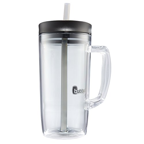 Large Plastic Mug - Bubba Envy Double Wall Insulated Straw Tumbler with Handle, 32 oz, Smoke