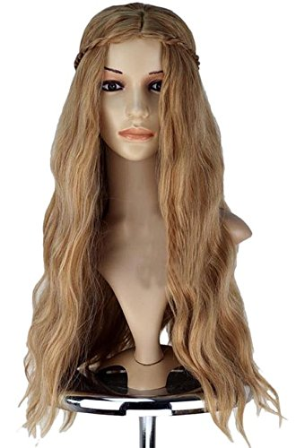 xcoser Cersei Lannister Wig Long Wave Fluffy Wig Hair Cosplay Costume -
