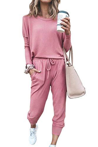 Fixmatti Women's Tie Dye 2 Piece Off Shoulder Sweatsuit Long Sleeve Pullover Long Drawstring Jogger Sweatpants Tracksuits
