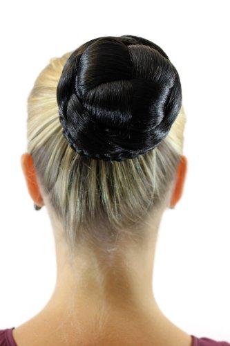 WIG ME UP Haarteil aufwendig geflochten Zopf Dutt Haarknoten Tracht Schwarz JL-3123S-2
