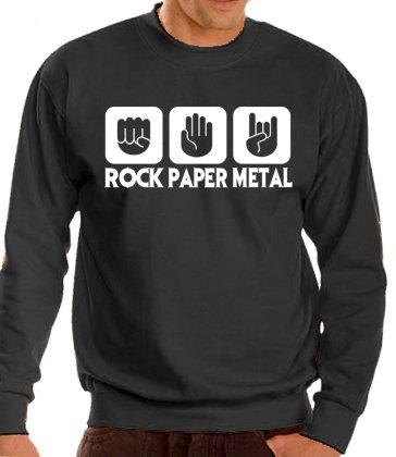 Touchlines Tank Top Stein Papier Rock - Heavy Metal - Sudadera, color negro, talla L: Amazon.es: Ropa y accesorios