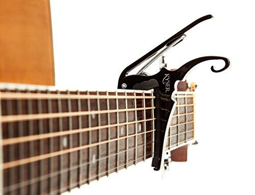 Kyser Quick-Change Capo para guitarras acústicas de 6 cuerdas - Negro