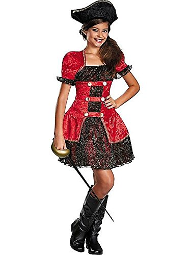 Disguise Dress Up Dolls High Seas Lass Tween Costume, Large -
