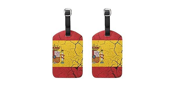 2 Piezas Bandera de España con Etiqueta para Equipaje con Emblema Etiquetas de Viaje Etiqueta Nombre Tarjeta Titular para Equipaje Maleta Mochilas: Amazon.es: Equipaje