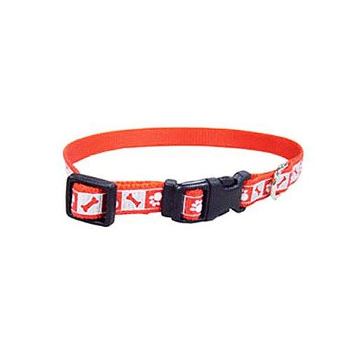 Coastal Pet 46382 A RPS12 Nylon Dog Collar, 3/8-Inch, Red