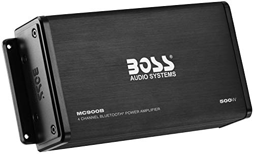 BOSS Audio MC900B 500 Watt, 4 Channel, All-Terrain, Weather Resistant Amplifier System with Bluetooth Multifunction - Amplifier Bluetooth Car