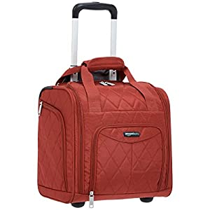 Travel Luggage Bag Size Amazon Basics Rolling Travel Luggage Bag - Red Quilted
