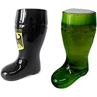 Barraid Two Pack Beer Boot Glass Dragon and Green Capacity 650 ML
