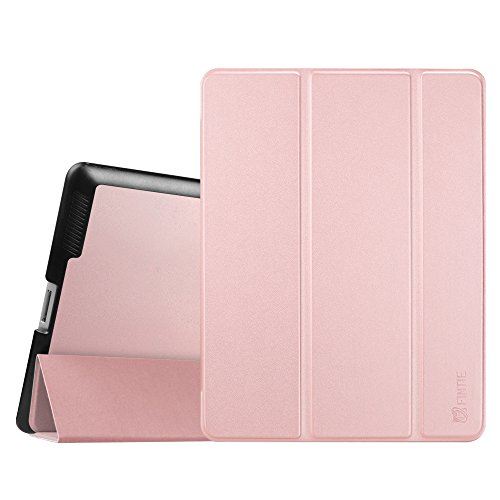 Fintie iPad 2/3/4 Case - Lightweight Slim Tri-Fold Smart Stand Cover Protector Supports Auto Wake/Sleep for iPad 4th Generation with Retina Display, iPad 3 & iPad 2 - Rose Gold (Best Price Ipad 4th Generation)