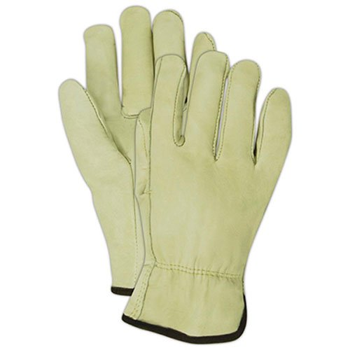100% Cow (Magid B6540ET Roadmaster Tan 100% Cow Grain Leather Driver Gloves, Medium)