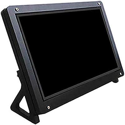 Nrpfell Soporte de Caja de Monitor LCD de Pantalla de 7 Pulgadas Soporte para Soporte de Carcasa de AcríLico Raspberry Pi 3 LCD Negro: Amazon.es: Electrónica