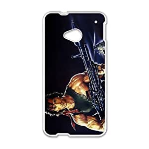 HTC One M7 White Cell Phone Case First Blood TXBY4178