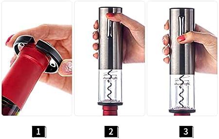 CHENSHJI Sacacorchos automático Exportador De Vino Eléctrico Recargable Sacacorchos con Carga USB Línea De Carga Vacío Tapón De Bombeo (Color : Silver, Size : 9.8 Inch)