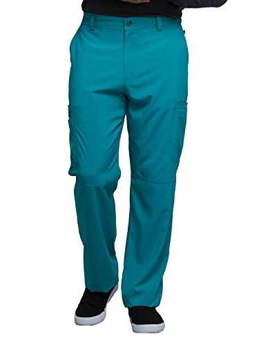 Cherokee Infinity CK200A Men's Fly Front Cargo Pant Teal Blue Large