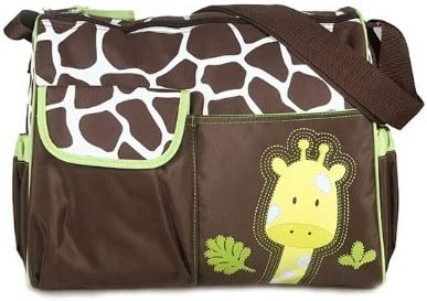 Baby Bucket Baby Diaper Nappy Changing Baby Diaper Bag/Baby Bag/Mummy Bag/Handbag (Green Giraffe)
