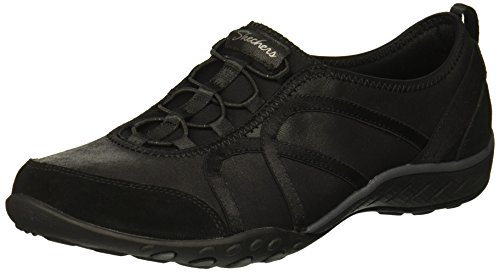 easy Tennis Skechers flawless Breathe black Look Femme Nero Blk 5wn6gxnqPC