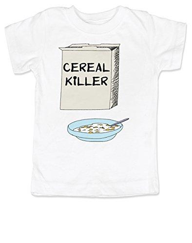 Vulgar bebé Cereales Killer Camisa,  Blanco