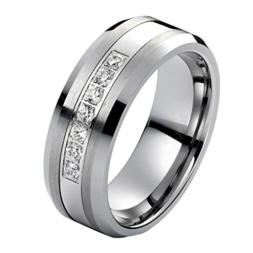 Tungsten Carbide Diamond Men's Wedding Band .20CTW (H-I I2)