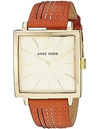 Women's AK/2740CHOR Gold-Tone and Orange Leather Strap Watch
