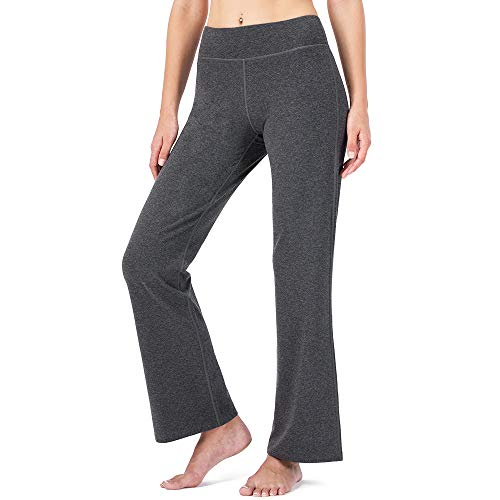 Naviskin Women's Bootcut Yoga Pants Bootleg Pants Back Pockets Petite/Regular/Tall Length 31