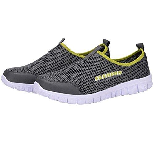 Grigio Sneakers Mesh Scarpe Scarpe Uomo da ASHOP Scarpe in Uomo Uomo da Scuro Casual Sportive Traspiranti All'Aperto Traspirante Passeggio EqxqHgwrT8